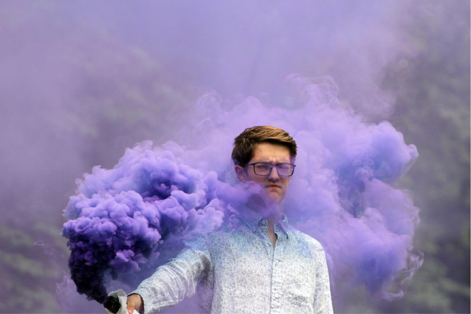 Id say my forst attempt at smoke bomb photography went well.. ????