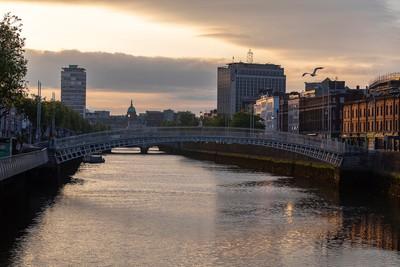 ireland - river liffey ha penny bridge