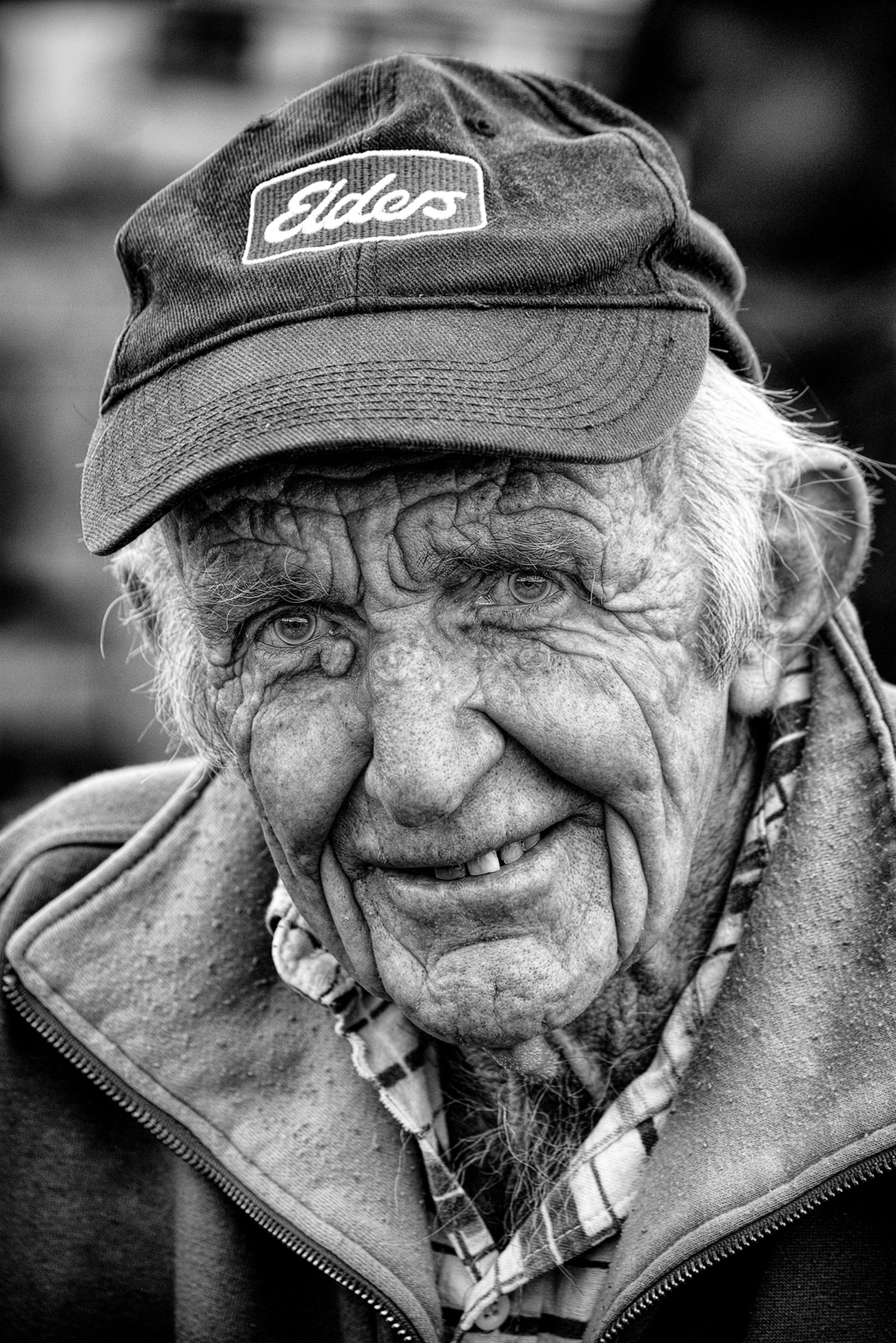 This Old Gentleman has spent his life working the land.