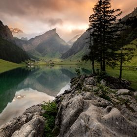 The picture was taken last weekend at Lake Seealpsee in the Swiss mountains in Appenzeller Land. Manuel and I hiked 1.5 hours upwards to 1.500m a...