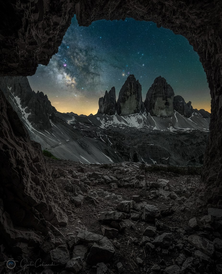 The perfect view by GiulioCobianchiPhoto - The Night And The Mountains Photo Contest