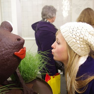 Before you meet your handsome Prince, you have to kiss a few frogs.  They may as well be chocolate.