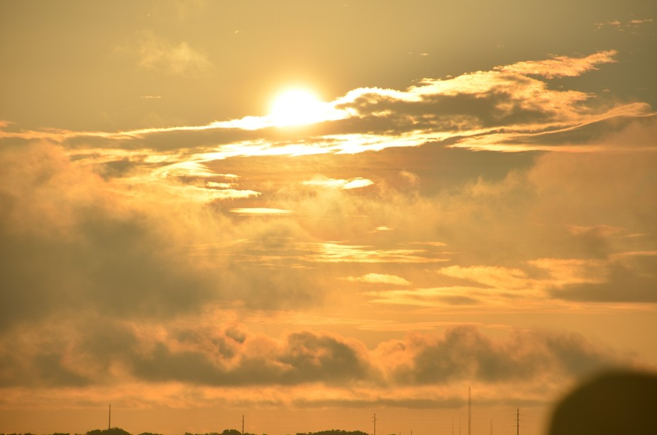 View of sunrise over Cape Canaveral Florida