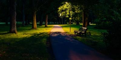 park on a blue hour