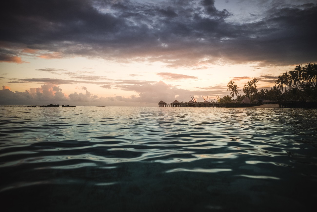 There's nothing like the feeling of shooting sunset in a hot blue crystal clear ocean. Samoan style !
