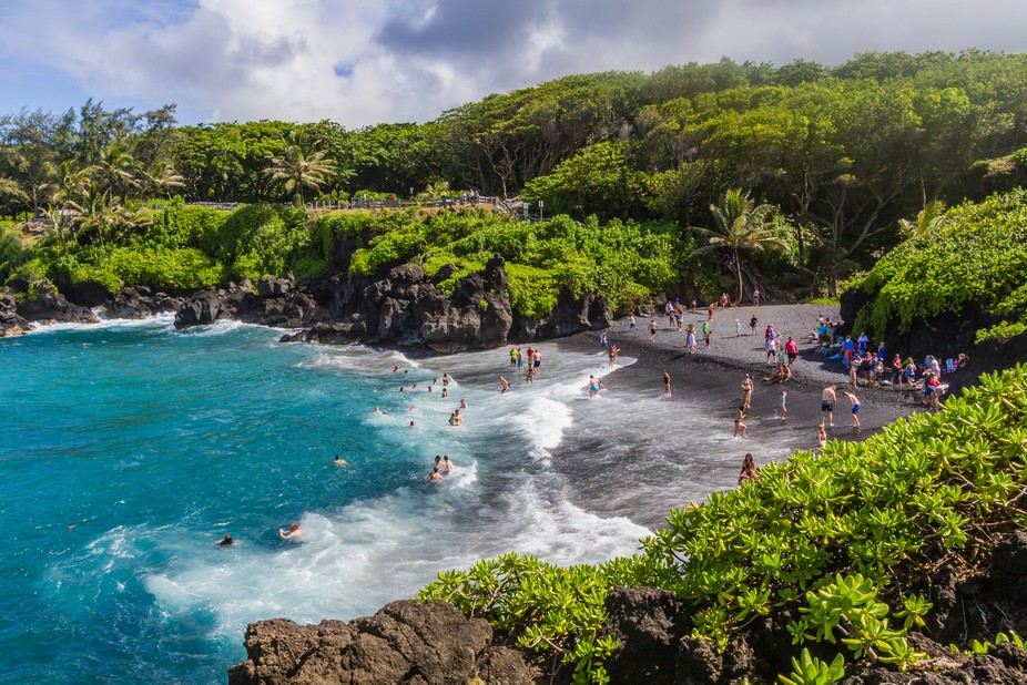 One of the beautiful beaches on the Road to Hana, Maui
