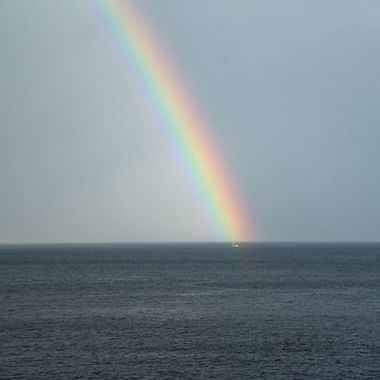 Spectacular rainbow off the coast of Croatia!