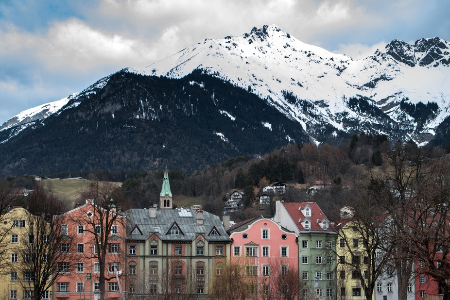This was taken from across a river in Innsbruck Austria.