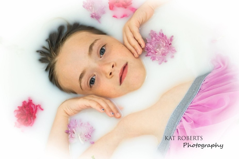 From a milk bath photoshoot