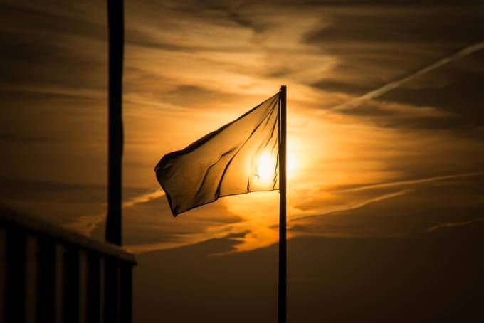 Golden Flag by RalphArtPhotography - Flags and Banners Photo Contest