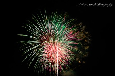 See more amazing firework pictures in my facebook page: Amber Attack Photography and also check out my website www.amberattackphotography.com