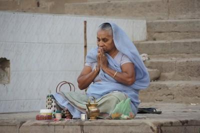 Sunrise Prayers along the Ganges River