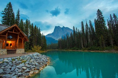 A quiet moment at Emerald Lake in Canada