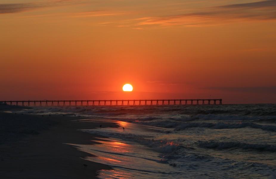 Beautiful sunny morning in Pensacola Beach, Florida 2017