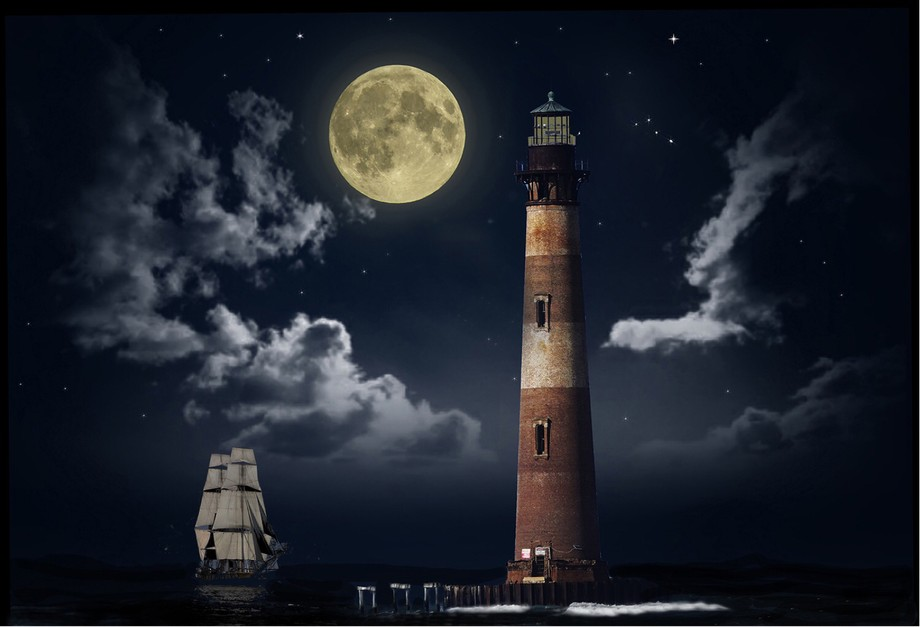 While photographing this lighthouse near Folly Beach, SC, I tried to imagine what this lighthouse...