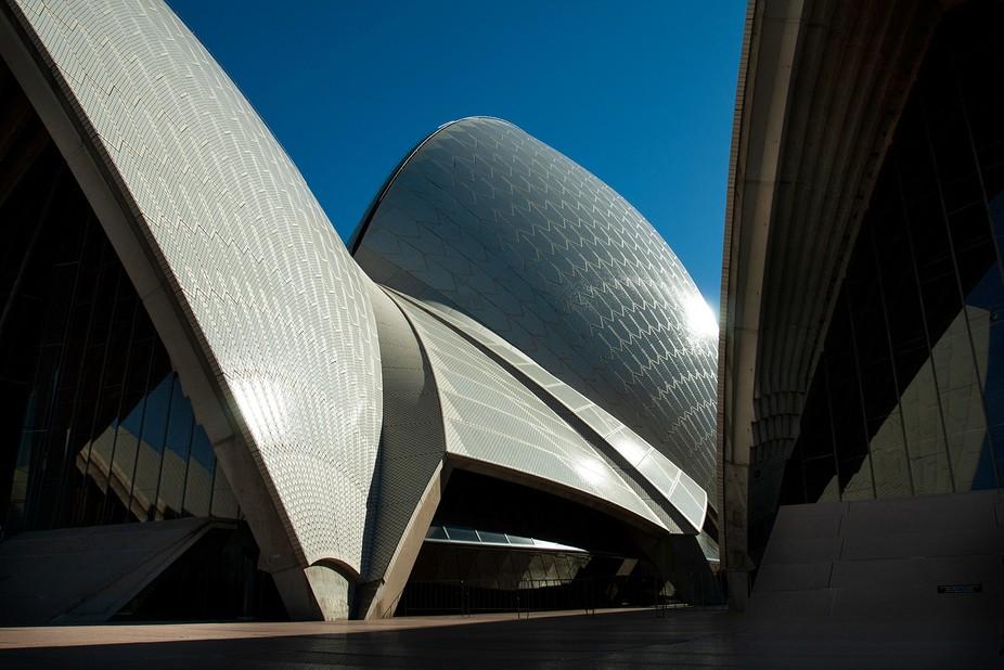 Opera House bathing in sunlight.