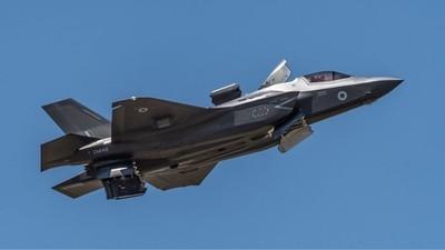 Royal Air Force F-35B Lightning II ZM148  over RAF Scampton 5-7-18