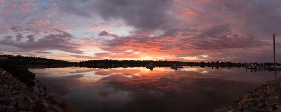 Went to Merimbula lake, Beautiful morning on sunrise the lake looked awesome.