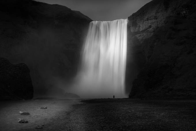 Skogafoss by jaycohen - Our World In Black And White Photo Contest