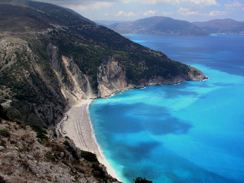One of Europe's best beaches at Kefalonia ,Greece.