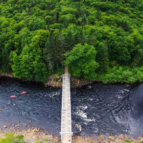 Taken from above at Jaques Cartier national park in Quebec, Canada