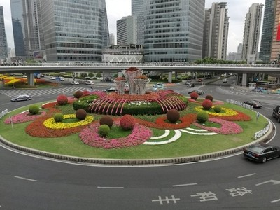 Center of the Mingzhu Roundabout in Shanghai