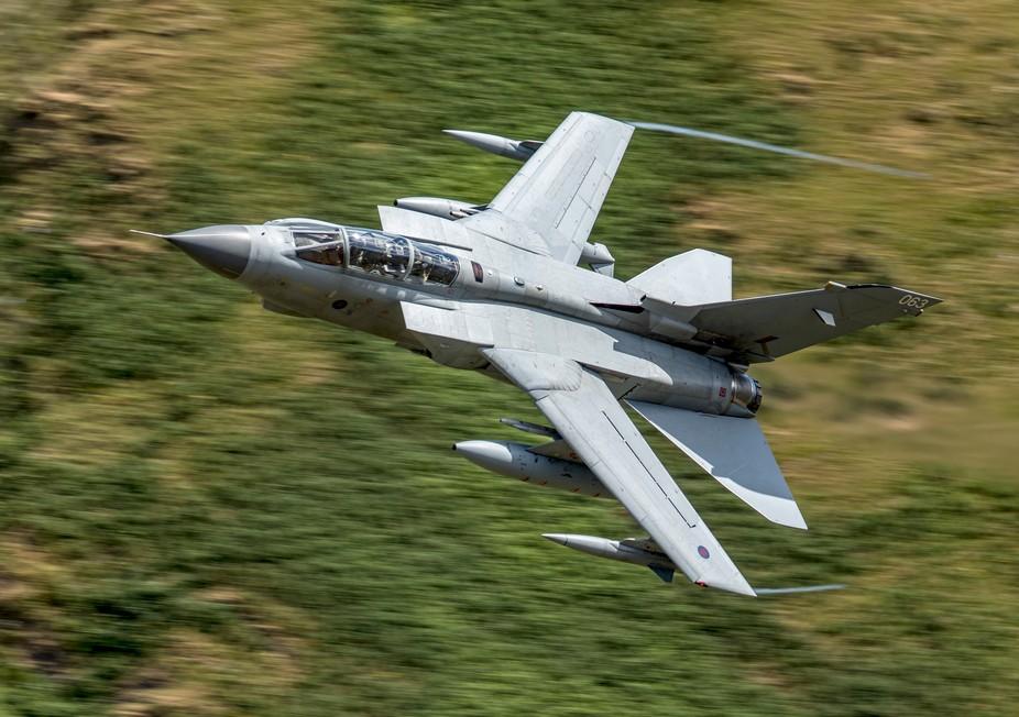 RAF Tornado at the Mach Loop North Wales