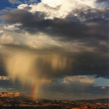 Rainbow over Bryce Canyon Utah