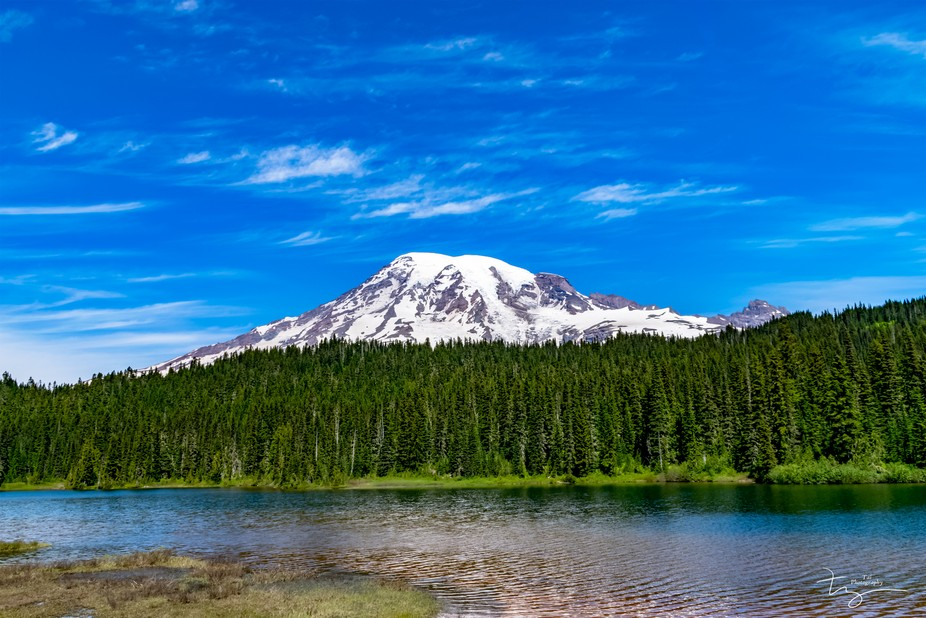 An HDR shot of Mt. Rainier compiled with 7 different photos of varying exposure.