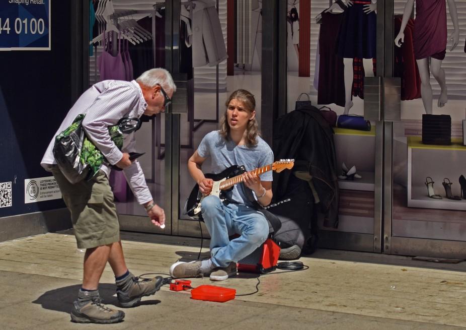 Busker in York