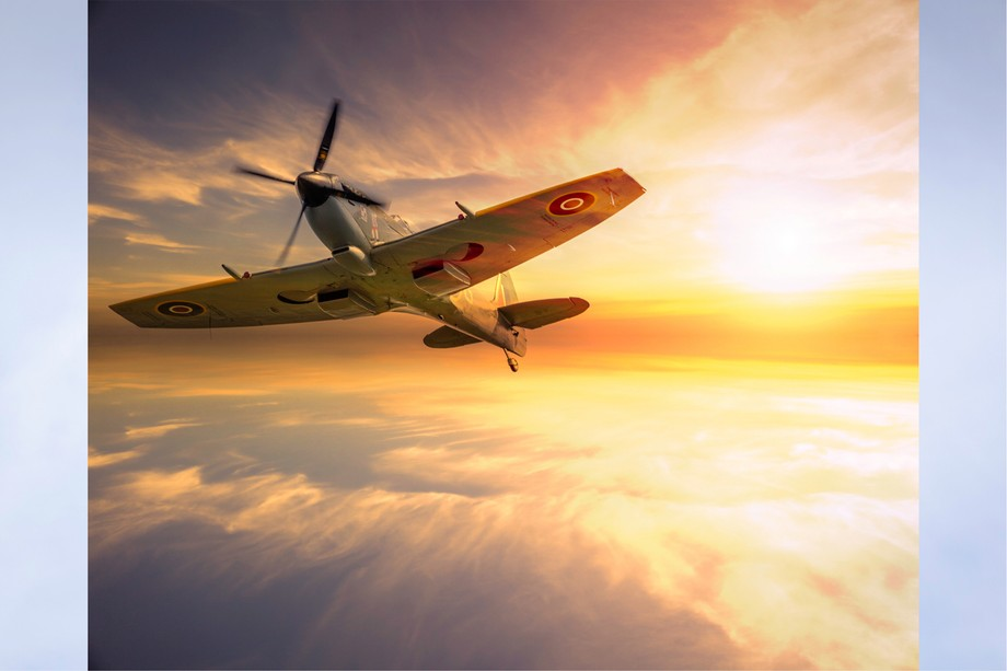Spitfire taken by me with PS sky