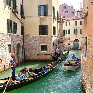 Venice traffic jam!