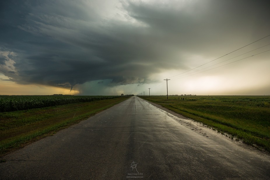 """Highway to Hell"" Tornado Warning July 2nd 2018 8:26 PM north of Hitchcock, Sou..."
