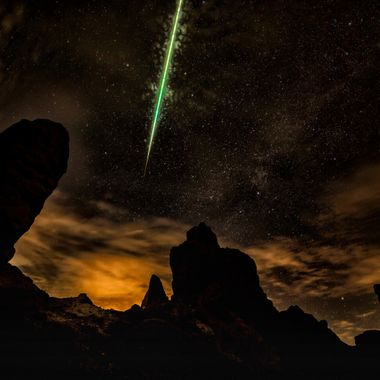 On the volcano of Polidi Teide in Tenerife on the Canary Islands on December 14, 2015 at 22:53.