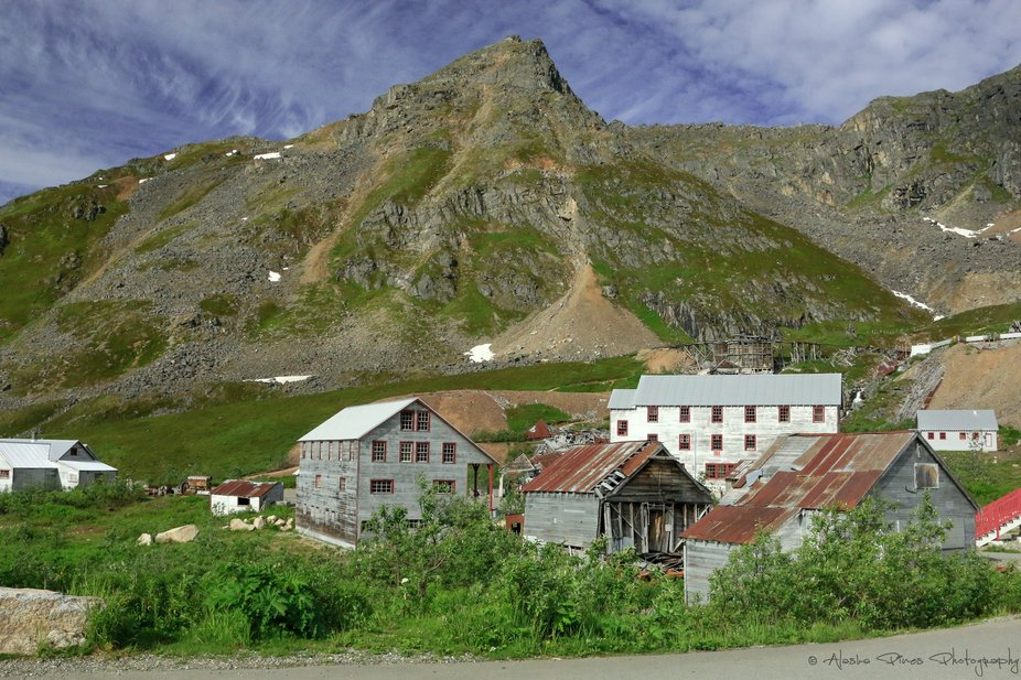 A warm summer day at the historic Independence Mine, located at Hatcher Pass, Alaska.