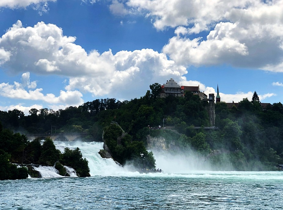 taking a big waterfall sorrounded with beautiful cloud !Nature of Art