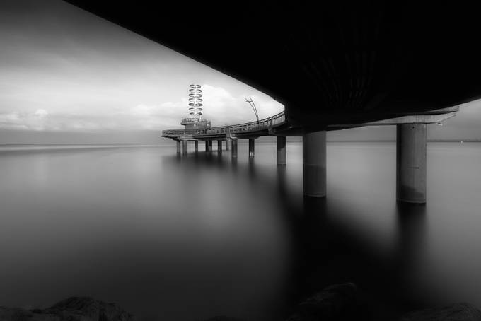 Brant street Pier by glennbernasol - Our World In Black And White Photo Contest