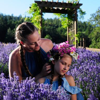 Mother/Daughter in the Lavender Garden
