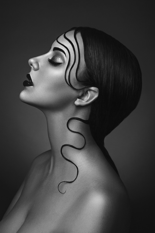 Veronika by karolinaryvolova black and white female portraits photo contest