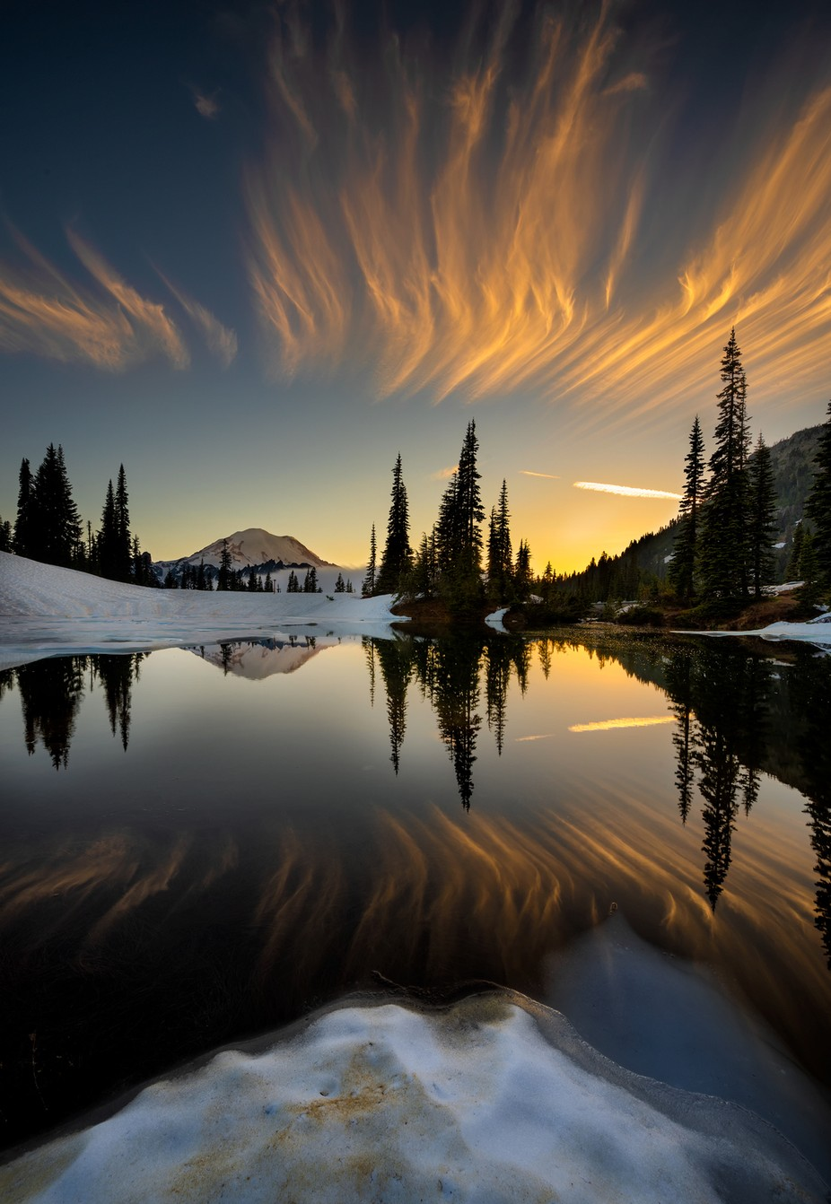 Sunset at Tipsoo Lake by vbpetercheung922585511 - The Natural Planet Photo Contest