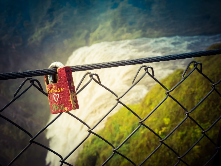 Everywhere I travel, I now see locks on bridges and fences. I'm more of a leave nothing ...
