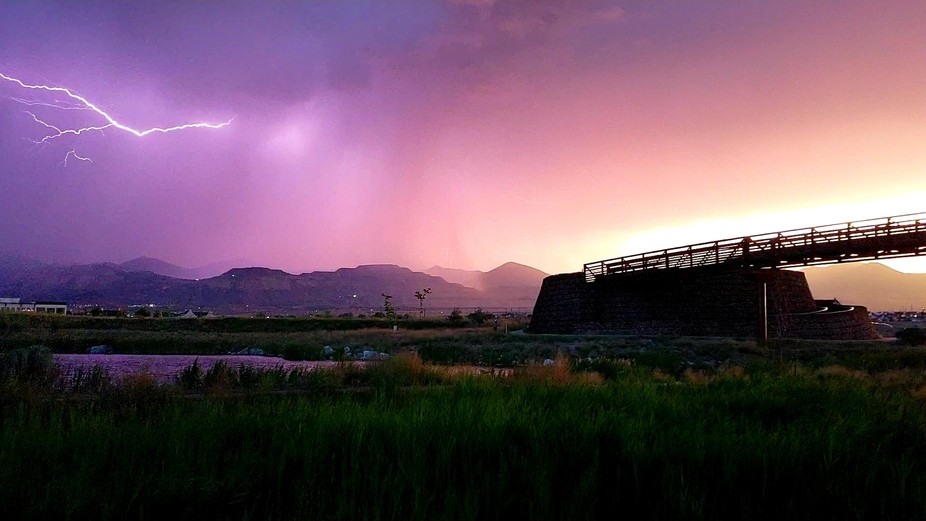 Caught this in my own backyard. Northern Utah storms never disappoint.