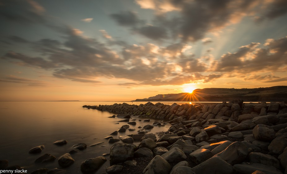 Sunset 4 Clavells Pier, Kimmeridge, Dorset, England