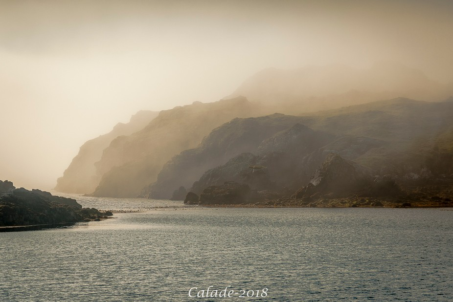 Shot taken early in the morning at the south point of island of Harris and Lewis (Hebrides, Scotl...