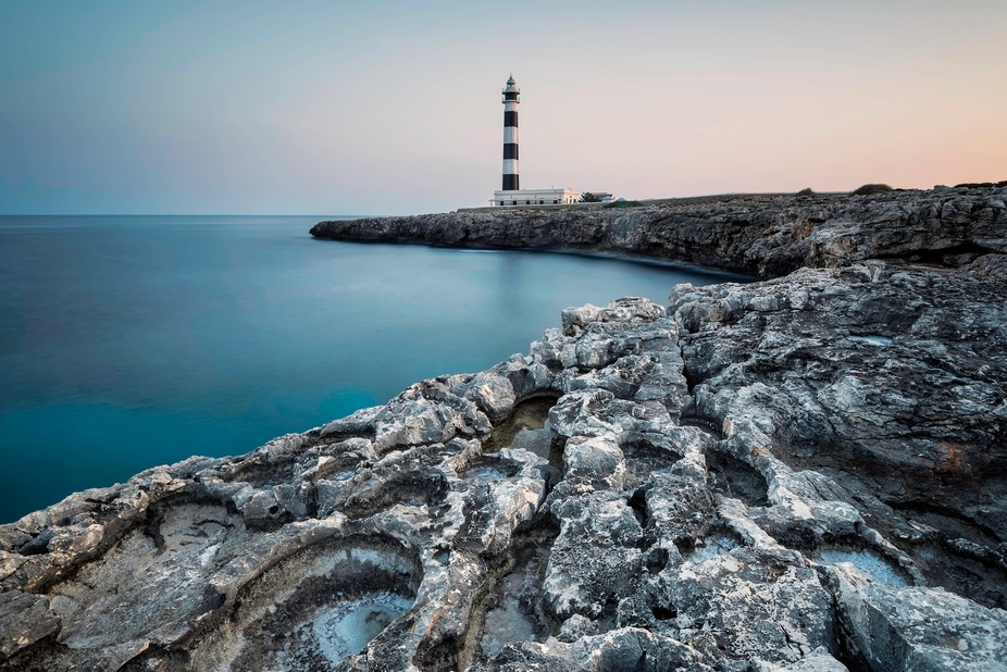 A Menorcan lighthouse at sunset