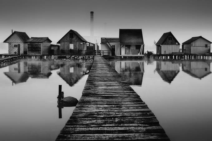 Reflection by Prijaznica - Our World In Black And White Photo Contest