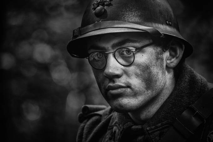 French soldier WW2 by christiankieffer - Our World In Black And White Photo Contest