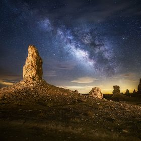 Pinnacles and a starry night.
