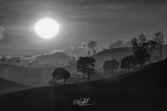sunrise by dikkysoesin - Our World In Black And White Photo Contest