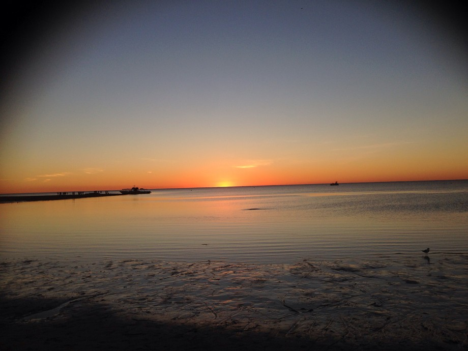 Sunset over Coral Bay